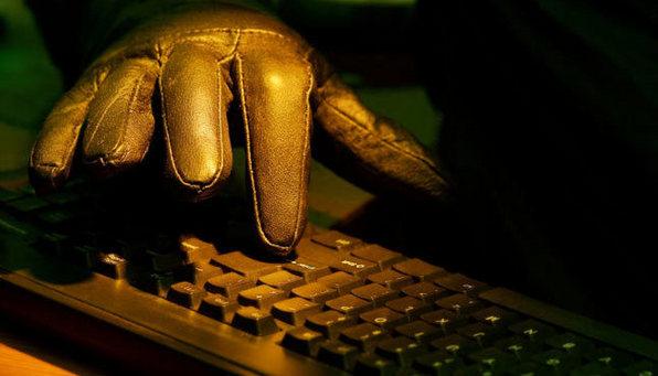 Handske på tastatur